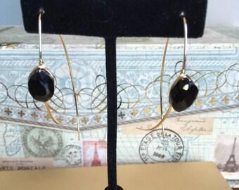 French Hook Mini Oval Gemstone Earrings