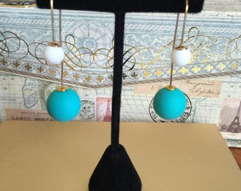 Turquoise Pop Chic Earrings