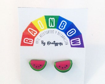 Watermelon polymerclay earrings