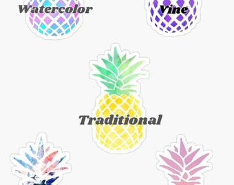 15abff6f4 Pineapple sticker choice of color