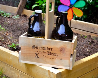 Growler and Beer Bottle Carrier