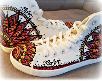 06a8761cf1d Painted Mandalas Sneakers