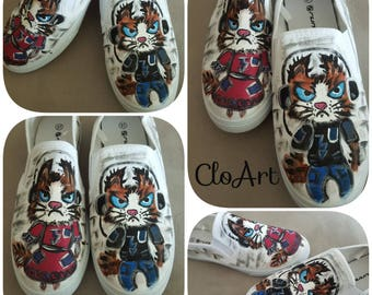 Lovely hand-painted sneakers- Monday Morning, Hand Painted Sneakers, Love Sneakers, Funny Sneakers, Art Shoes, Monday Mood