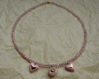 Ceramic pendants necklace