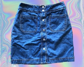 6efadb3f07166e Short Jean Skirt 90s Gap Brand Button Down Denim Skirt Size 2