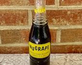 Nu Grape Soda Bottle, Unopened and full of Grape Soda, by National Nugrape Co Atlanta, Ga, 1967