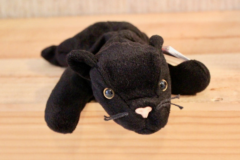 c1936072950 Ty Beanie Babies Velvet the black panther 1995