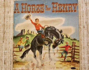 Book, Children's book, A Horse for Henry, Whitman Publishing 1952