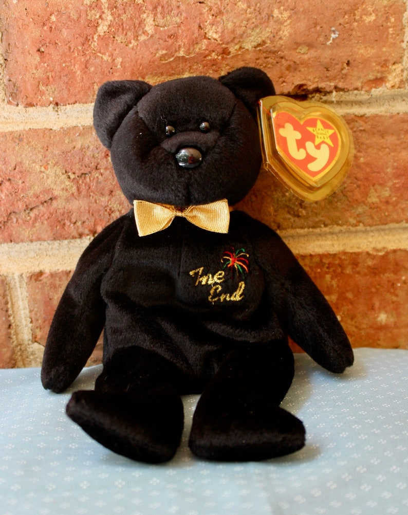83cba793a Ty beanie babie, The End, a black bear created in 1999