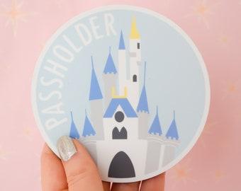 Cinderella Castle Passholder Magnet