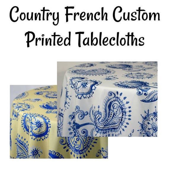 Incroyable Country French Paisley Custom Printed Paisley Tablecloth | Etsy