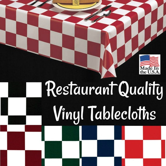 Vinyl Tablecloths 9819 Commercial Grade Vinyl Tablecloth Etsy