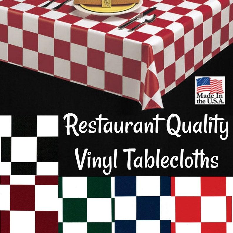 Vinyl Tablecloths 9819 Commercial Grade Vinyl Tablecloth Etsy