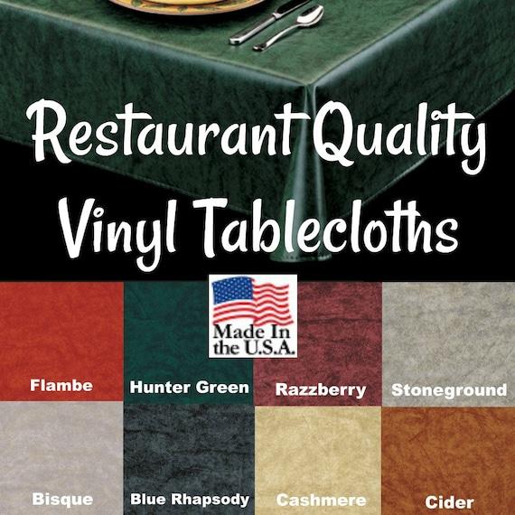 Restaurant Tablecloth- Retro Tablecloth Outdoor Tablecloth Cafe Table cloth Vinyl Tablecloths 9803 Commercial Grade Vinyl Tablecloth