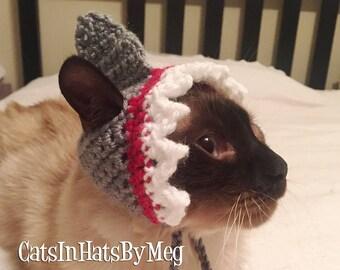 Handmade Crochet Shark Hat for Cats