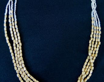 Gold and Silver Multi Strand Necklace