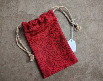 Tarot Bag, Drawstring Bag, Dice Bag, Gemstone Bag, Bag of Holding