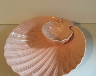 Shell shaped Chip and Dip Set Pink