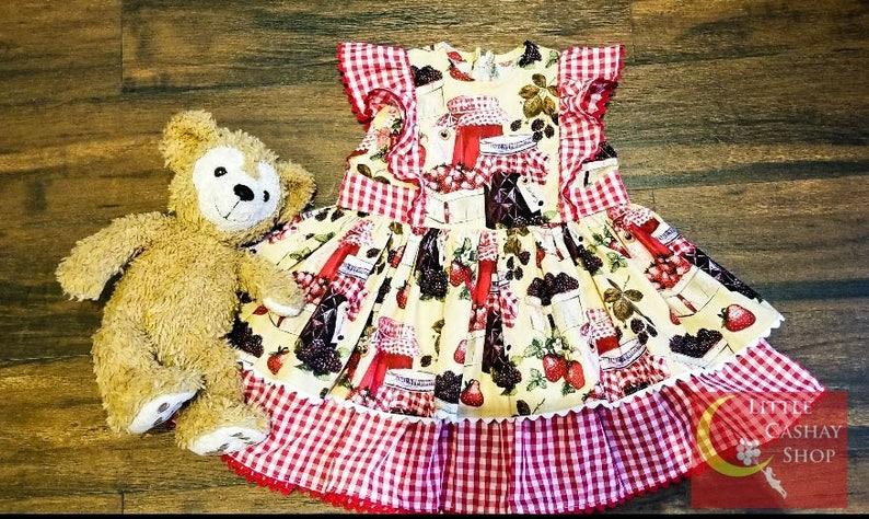 Handmade Dress Colorful Little Girl/'s Dress Easter Dress for Girls Cotton Dress
