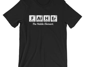 Father The Noble Element T-Shirt Periodic Table Tee