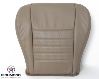 1999 2000 2001 2002 2003 2004 Ford Mustang GT Leather Seat: Driver Bottom Perforated, Tan
