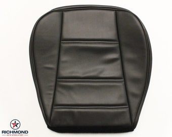 1999 2000 2001 2002 2003 2004 Ford Mustang V6 Leather Seat: Driver Bottom, Black