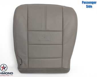 2008 2009 2010 Ford F-250 F-350 Lariat Leather Seat Cover: Passenger Bottom, Gray