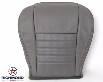 1999 2000 2001 2002 2003 2004 Ford Mustang GT Leather Seat: Driver Bottom Perforated, Gray
