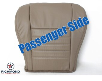 1999 2000 2001 2002 2003 2004 Ford Mustang GT Leather Seat: Passenger Bottom Perforated, Tan