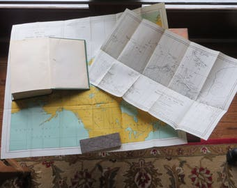 The Friendly Arctic Vilhjalmur Stefansson 1943 Edition Macmllan Co.  Maps INTACT.