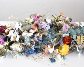 Mixture of dried flowers - Multicolored - Sachet of 50cl / 15g / 18cm by 25cm - Biodegradable - Dried flowers - Bulk