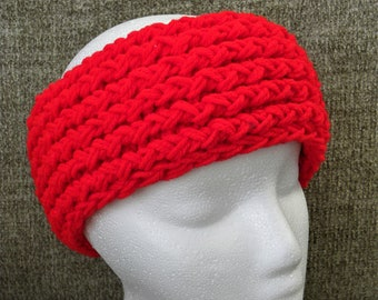 Bright Red Knit Headband