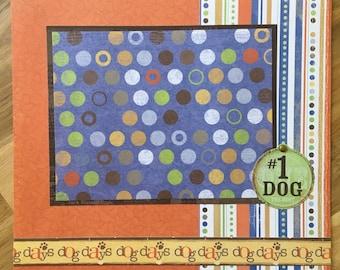Dog 8x8 Premade Scrapbook Page Layout Puppy Pet Best Friend