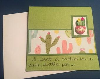 cactus prick funny card divorce ex husband ex wife gag gift friend card funny cactus enemy former boss neighbor