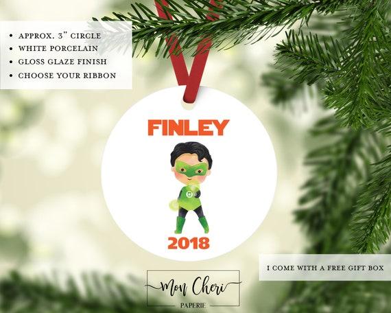 image 0 - Super Hero Boy Christmas Ornament For Kids Green Lantern Etsy