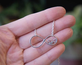 Silver Infinity,Infinity Necklace,Silver Necklace,Pendants,#192