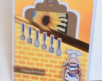 Handmade birthday gift card holder card