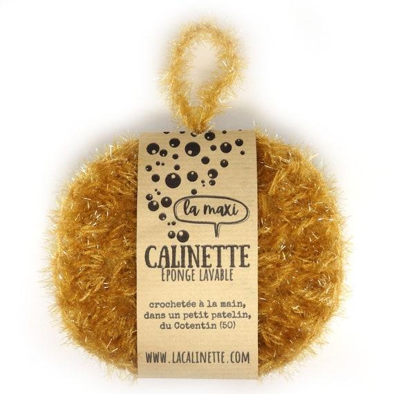 "The Maxi washable sponge ""la Calinette"" mustard yellow"