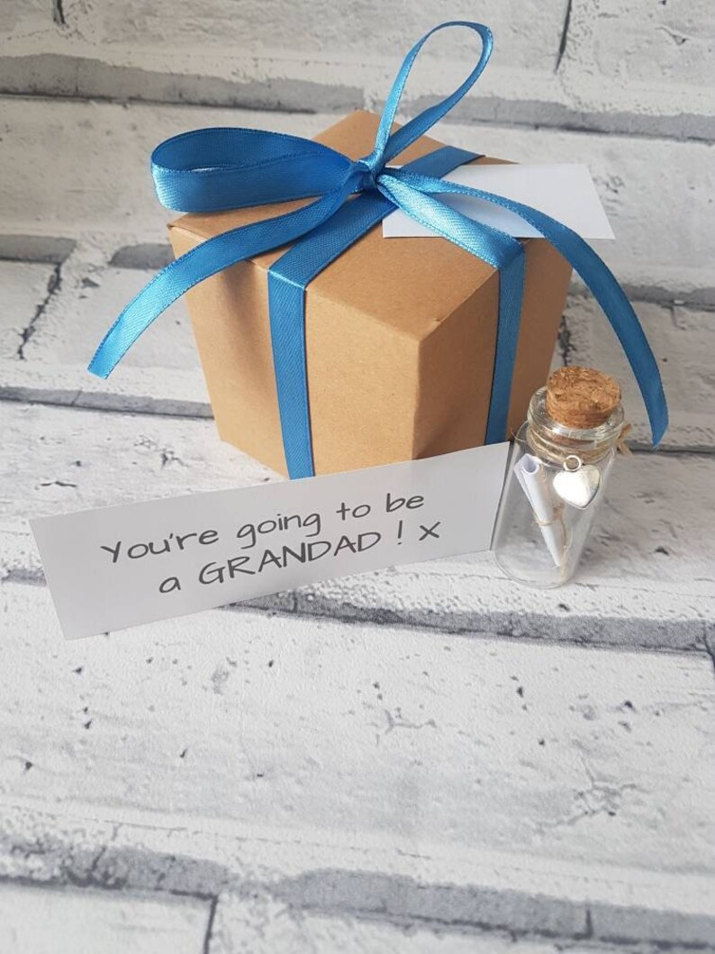 new You/'re going to be a nan /& grandad pop the balloon baby news