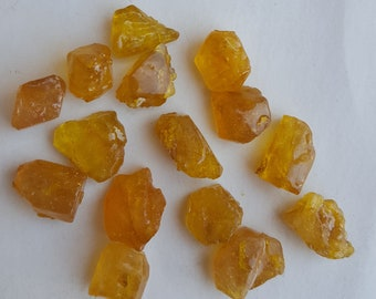 50/%off~~Newly Listed~~~ Natural Gold Citrine rough ~~~ Side drill~~~~ 50 Pieces~~~~ 171 Carat~~~ 7-8 MM~~ Jewelry Making~~~ Wholesale price