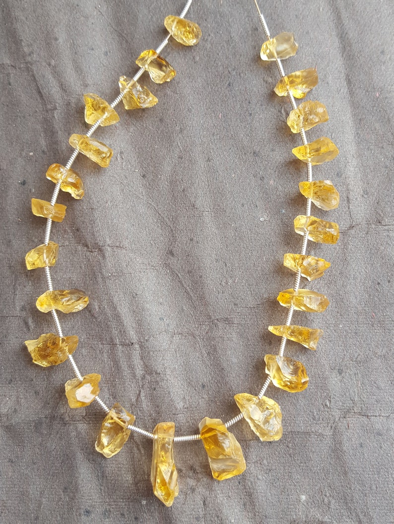 50/%off~~Newly Listed~~~ Natural Gold Citrine rough ~~~ Side drill~~~25 Pieces~~ 100 Carat~~~8-10 MM~~ Jewelry Making~~~ Wholesale price