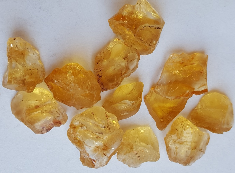 50/%off~~Newly Listed~~~ Natural Citrine rough ~~  12 Pieces~~ 254 Carat~~~ 11-13 MM~~ Jewelry Making~~ Wholesale price