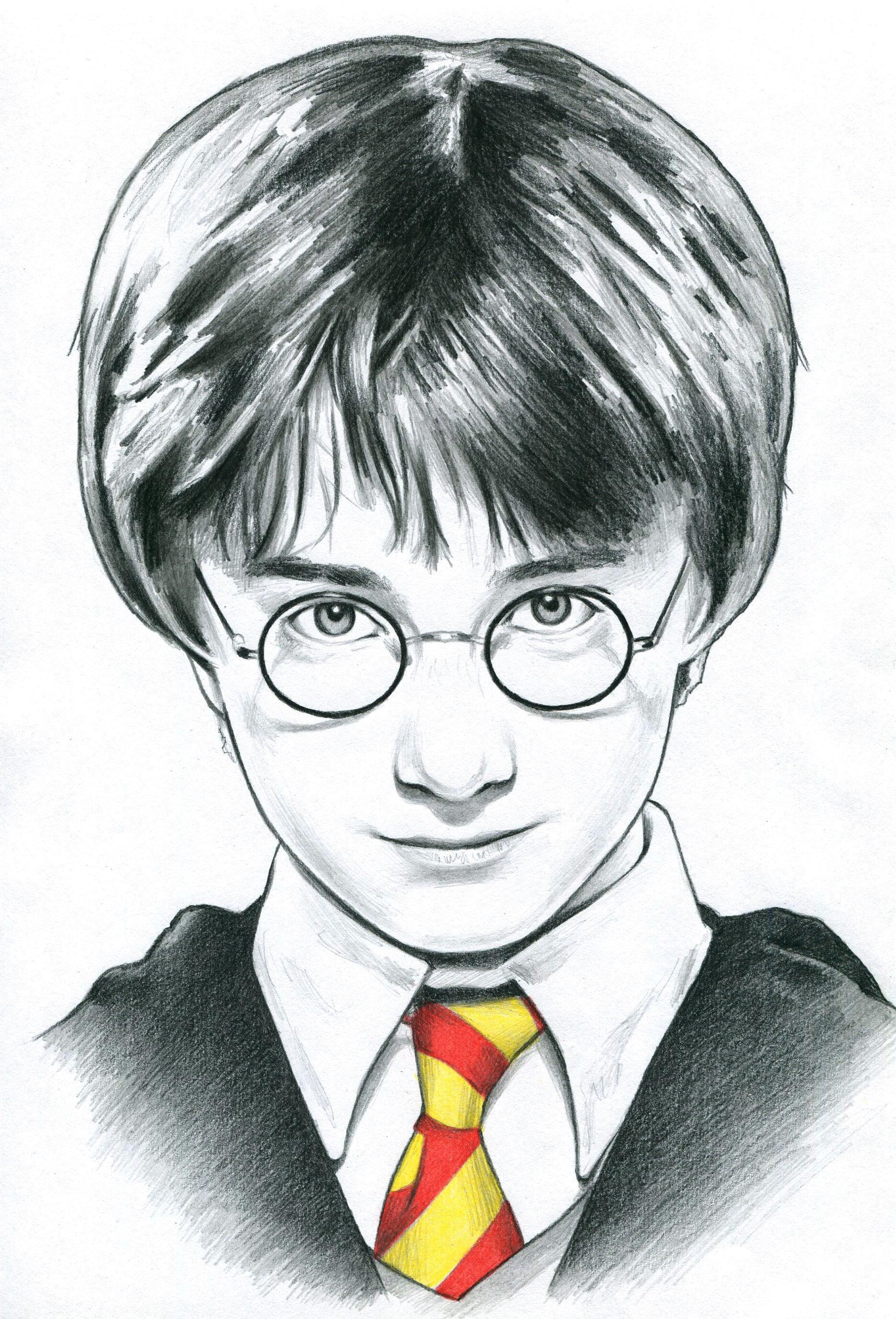 harry potter bleistift zeichnung portrait druck | etsy