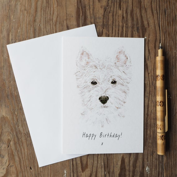 West Highland Terrier Birthday Card Westie Birthday Card Etsy