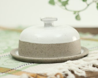 Butter Dish with Lid | Handmade Ceramic Dish | Round Butter Dish | Stoneware Kitchen Decor | Pottery Gifts