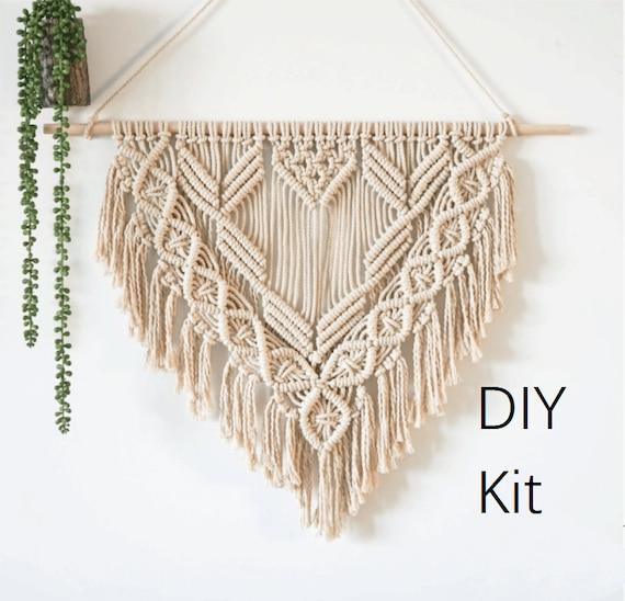 Macrame colgando tapiz de pared Kit de bricolaje decoración | Etsy