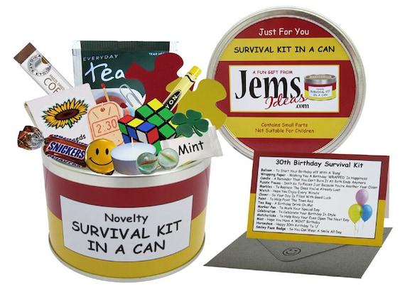 fun gift 30th birthday Survival Kit in A Mini