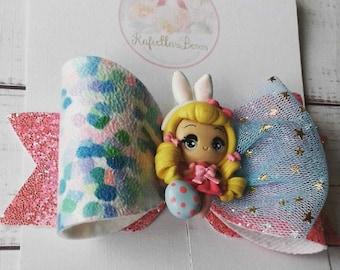 Easter bunny girl bow
