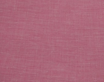 """2yds 33"""" Pink Chambray Cotton Fabric 45"""" Wide."""