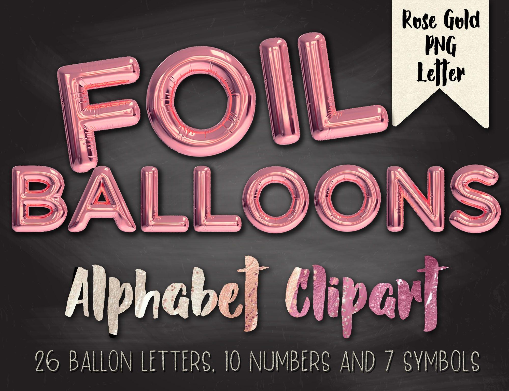Blue balloon lettersballoon lettersGold Foil | Etsy